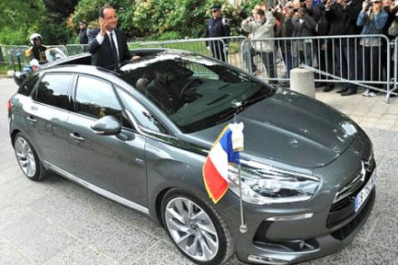 Hollande en DS5 (image Autobild.de)