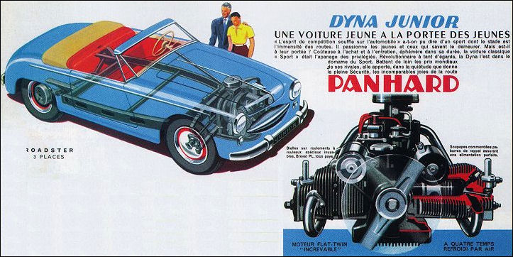 Panhard dyna junior roadster minimaliste boitier rouge for Contemporary motors erie pa
