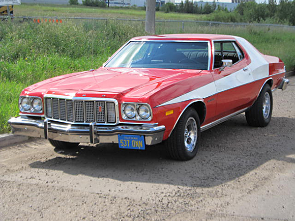 la ford gran torino de starsky et hutch vraie l gende mais fausse sportive boitier rouge. Black Bedroom Furniture Sets. Home Design Ideas