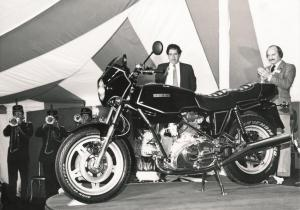 1980 Launch with Mike Hailwood on right & Lord Hesketh1